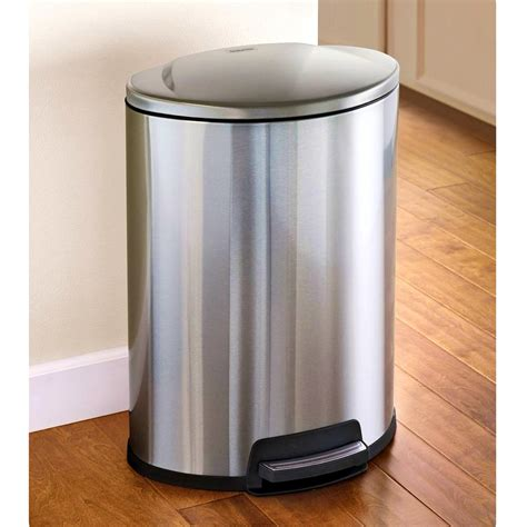 kitchen outstanding stainless steel trash cans metal
