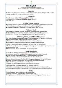 Resume Exles For Majors Resume Writing Career Connoisseur