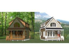 16x16 tiny houses pdf floor plans 466 sq ft 463 sq 20x20 cabin interior bing images home pinterest