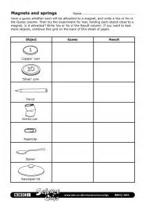 bbc schools science clips magnets and springs worksheet