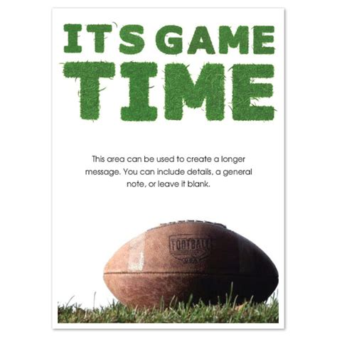 game time football invitations amp cards on pingg com