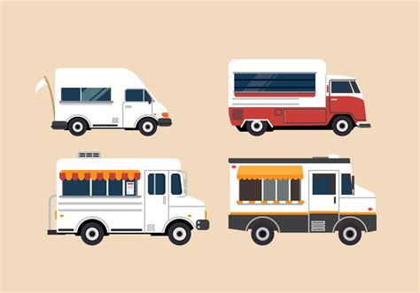 food truck design illustrator free vector food truck illustration set download free