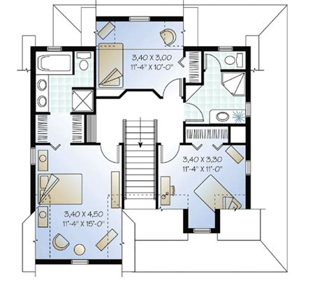 house plans with master suite on second floor narrow lot country home plan 2199dr 2nd floor master