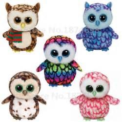 aliexpress buy ty plush animal beanie boos owl 5cm 6 cute ty big eyed brown blue pink