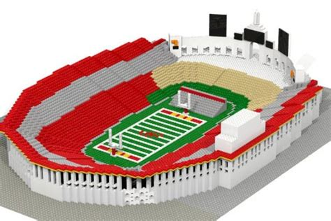 How To Make A Football Stadium Out Of Paper - big name college football stadium replicas get