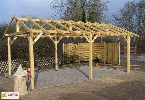 2 Car Garage Plans carport en bois mon am 233 nagement jardin