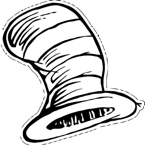 Dr Seuss Hat Coloring Page dr seuss hat coloring page coloring