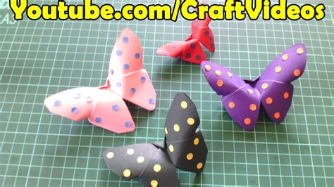easy origami butterfly paper butterfly step  step tutorial youtube