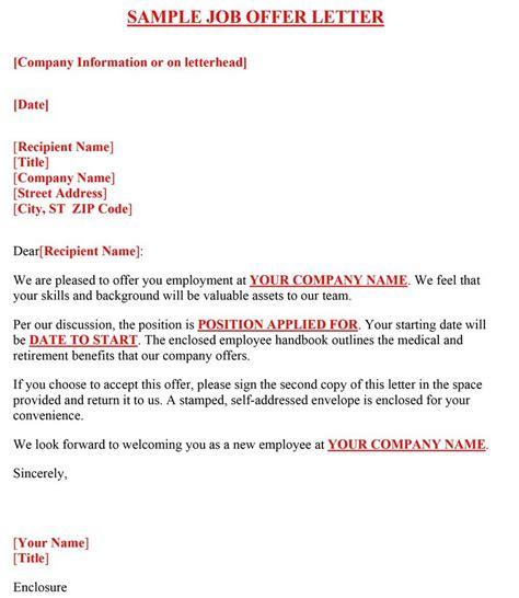 counter offer letter template sample counter offer letter job offer