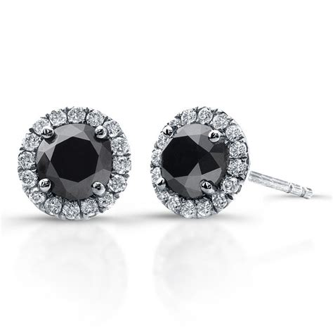 14k white gold 1 00ct twt black and white halo