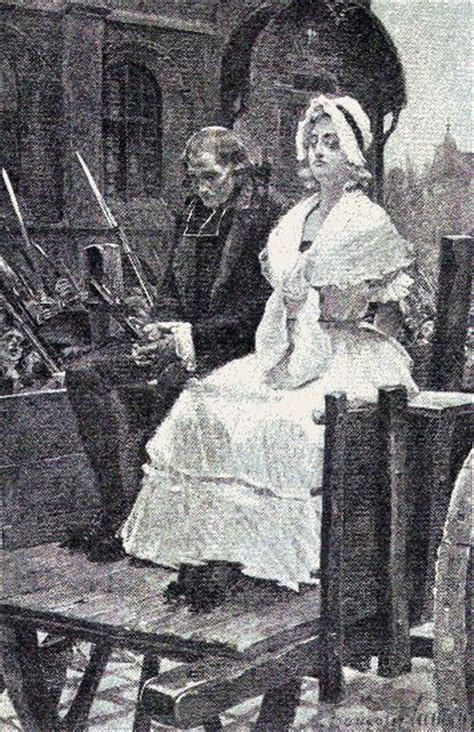 head haircut before guillotine marie antoinette had to ride in a tumbrel or cart where
