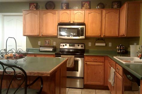 Green Countertops Simple Small Kitchen Backsplash House Design And