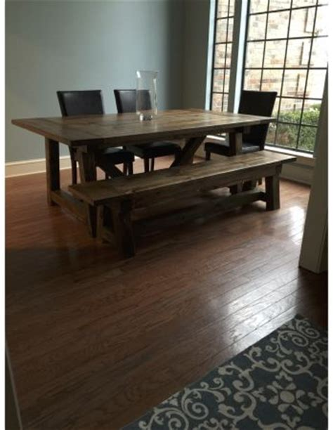 ana white 4x4 truss dining room table and bench diy 4x4 truss beam table do it yourself home projects from