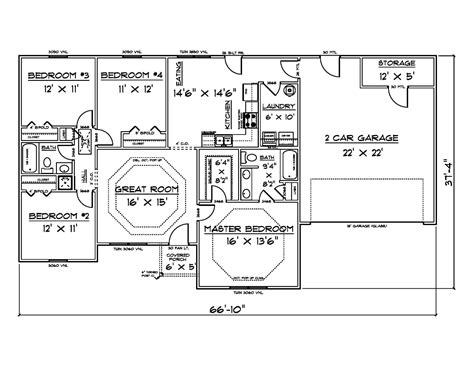 floor plans 1500 sq ft house plans for 1500 sq ft 4 bedroom house 60 00