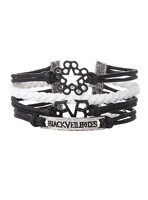 Black Huf Shirt Rubber Merch black veil brides logos bracelet topic omfg i