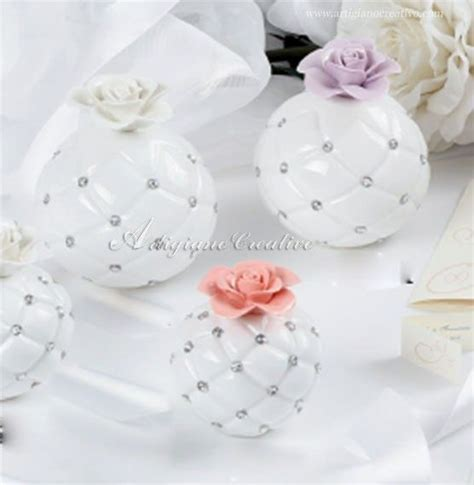 fragrance diffuser with colored rose, Italian wedding