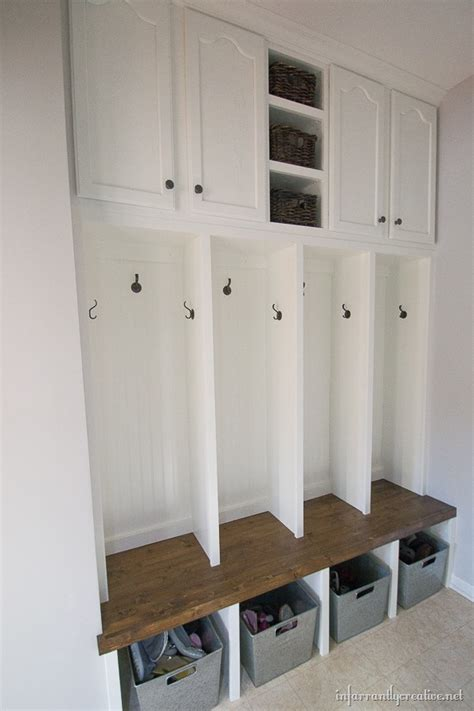 Foyer Furniture Ikea Mudroom Locker Final Reveal Infarrantly Creative