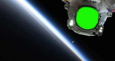 Ncube Green Insert Gravity Element green screen astronaut spacewalk floating away into space