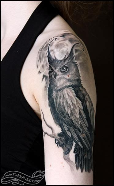 horned owl tattoo the world s catalog of ideas
