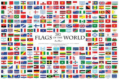 all flags of the world printable 282 drapeaux du monde mur carte affiche