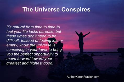 Universe Conspires the universe conspires in your favor author frazier