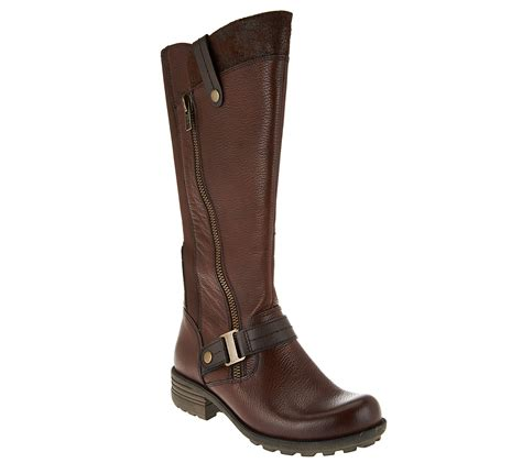 qvc boots quot as is quot earth origins leather wide calf boots
