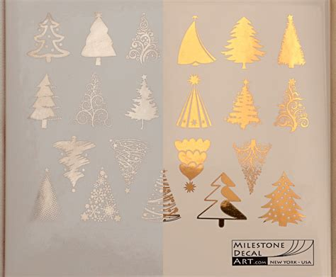 christmas tree ceramic decals glass decals or enamel decals