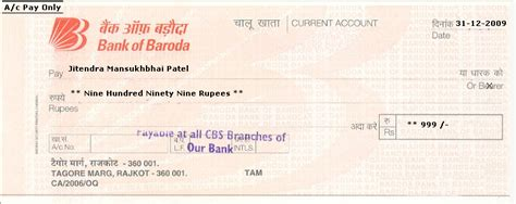 authorization letter to deposit in bank of baroda bank cheque icici bank cheque format