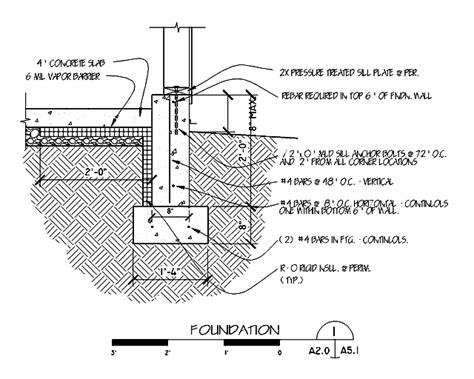 building foundation section foundation footing detail drawings google search house