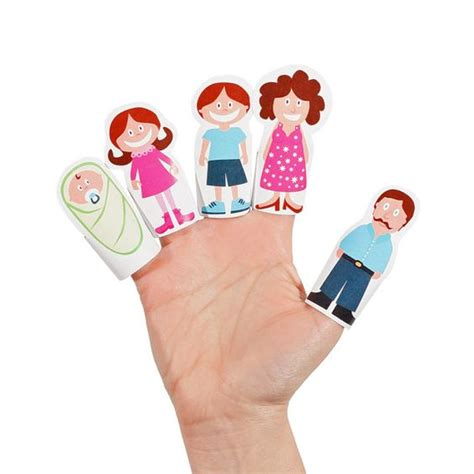 How To Make Puppets At Home With Paper - finger family paper finger puppets printable pdf