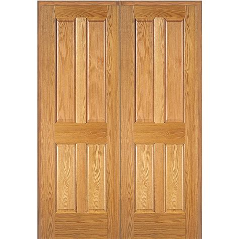 oak interior doors home depot mmi door 60 in x 80 in 4 panel unfinished red oak wood