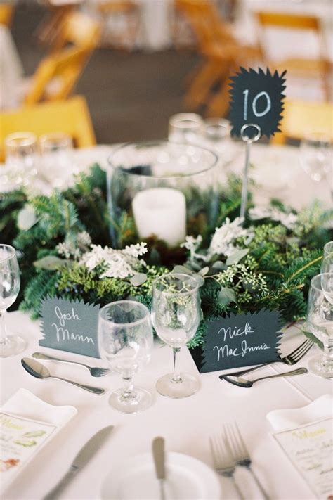 lovely tablescape with unique place cards, table card and