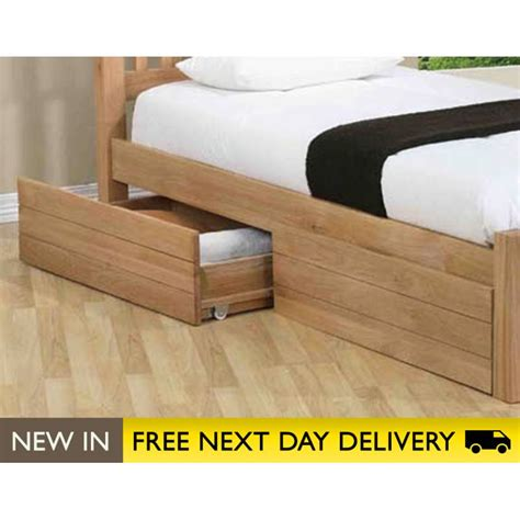 wood storage bed sleepy valley beds oak storage drawers sale two under