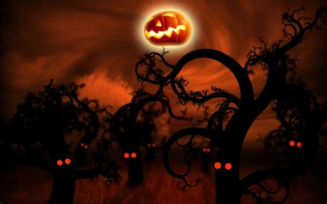microsoft desktop themes halloween midnight forest halloween wallpapers hd wallpapers id 790
