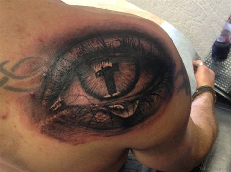 cross tattoo by eye 60 superb eye tattoos for shoulder