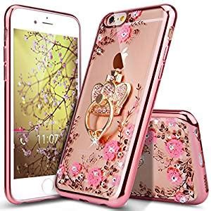 For Iphone 6 6s Plus Luxury Flower Bling Fashion So T0310 iphone 6 plus iphone 6s plus ikasus glitter plating butterfly