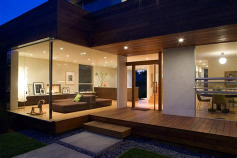 indoor outdoor living house design to get full advantage of south climate with