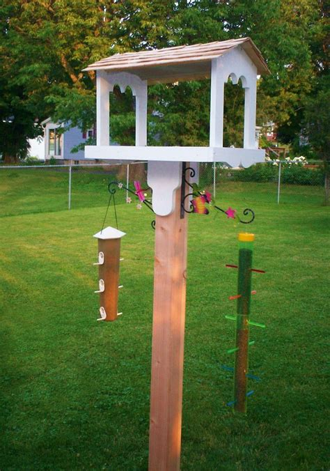 the bird feeding station my hubby built for me i designed