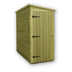 garden shed 4x4 shiplap pent roof wooden tanalised