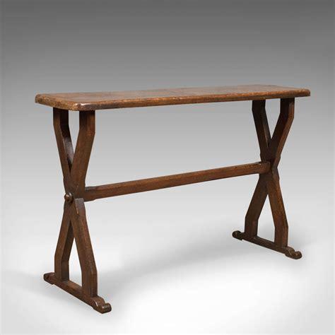 Narrow Oak Console Table Antique Console Table Narrow X Frame Oak Overtones Circa 188 Luxify On Luxify