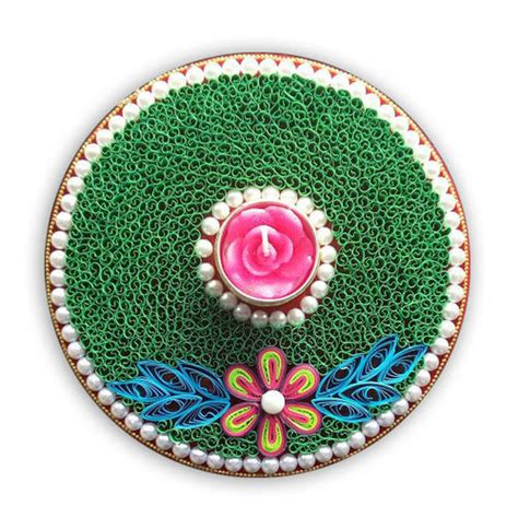decorative diya on paper paper quilling decorative diya at rs 632 piece
