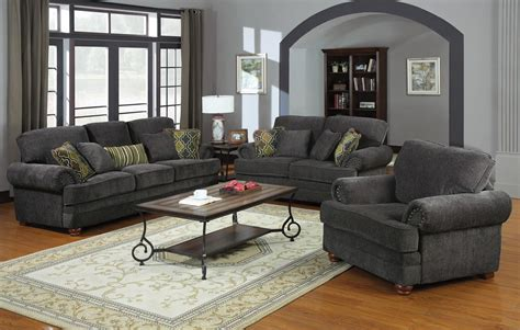 Colton Grey Living Room Set From Coaster 504401 Grey Living Room Set