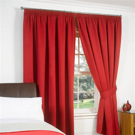 Lined Bedroom Curtains Ready Made Thermal Pencil Pleat Blackout Pair Curtains Ready Made Fully Lined Free Tiebacks Ebay