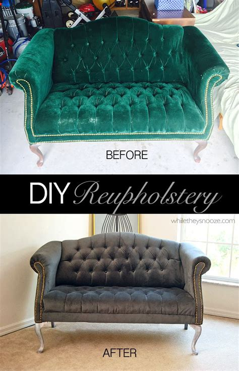 diy reupholster tufted while they snooze how to reupholster a tufted