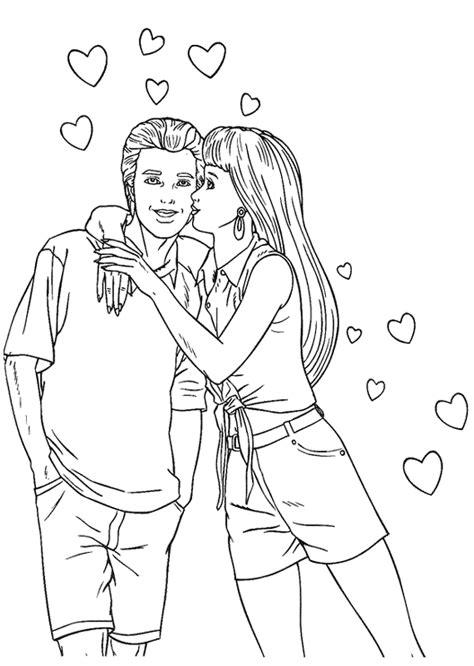 imagenes para colorear jovenes dibujos de jovenes enamorados para colorear imagui