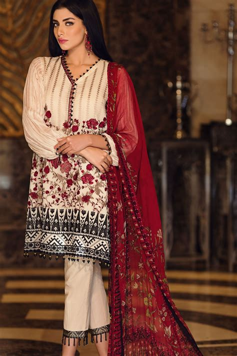 collection dresses khaadi lawn chiffon eid dresses designs collection 2017 2018