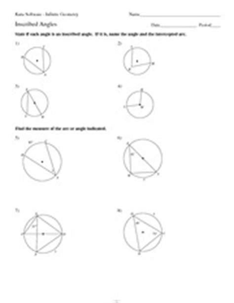Inscribed Angles Worksheet Answers by Math 9 Inscribed Angles Worksheet Solutions Kuta