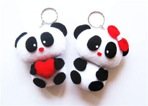 Gantungan Kunci Anjing Key Chain Chowchow sweet panda doll from felt things