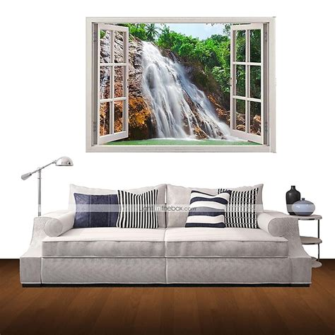 waterfall home decor 3d wall stickers wall decals waterfall home decor vinyl