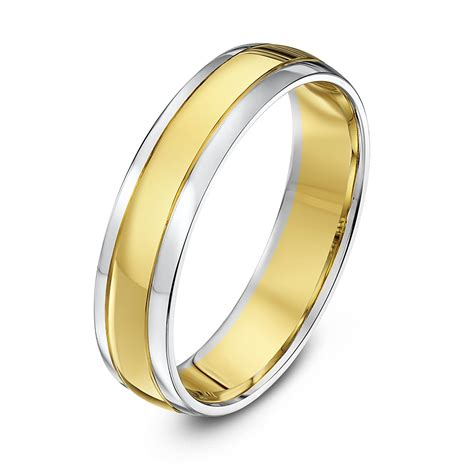 Wedding Rings Yellow And White Gold by White And Gold White And Yellow Gold Wedding Rings